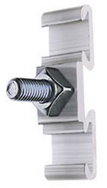 BAND-IT 1 1/2 in. x 4 3/4 in. Mounting Plates w/ 2 in. Long 5/8 in. Plated Bolt