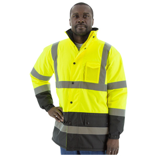 Majestic High Visibility Medium Fleece Lined Cold Weather Parka w/ Hood