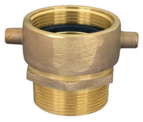 Dixon Powhatan 1 1/2 in. NH(NST) x 1 1/2 in. NPT Pin Lug Brass (Open Snoot) Male Swivel Adapter