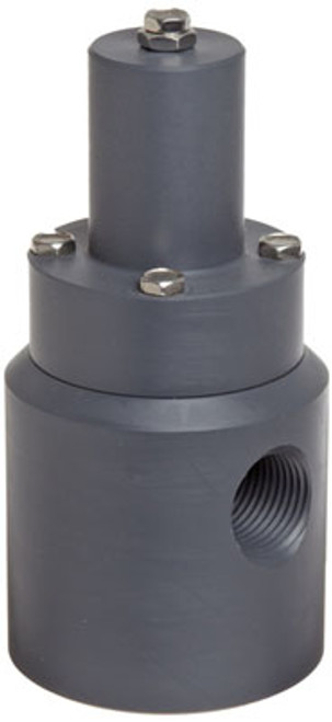 Plast-O-Matic Series RVD 1/2 in. Poly Angle Pattern Relief Valves w/ Viton Seals