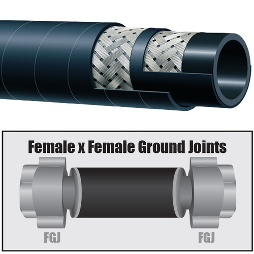 Kuriyama T340 1 in. NPT 270 PSI EPDM Steam Hose Ground Joint Assemblies w/ Female Ends