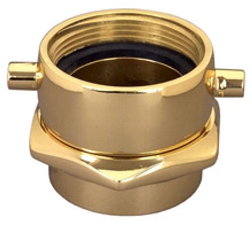 Dixon 3 in. NH(NST) x 3 in. NPT Brass Pin Lug (Open Snoot) Female Swivel Adapters