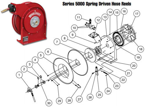 Reelcraft Series 5000 Reels - Replacement Parts - Spring Case Assembly