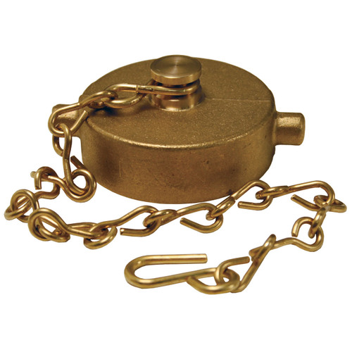 1 1/2 in. NH(NST) Dixon Brass Cap & Chain - Pin Lug