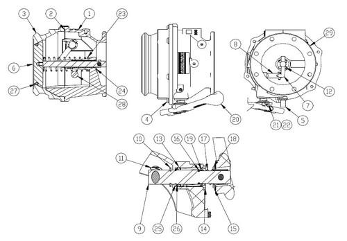 Repair Kits for OPW Civacon Series 891 API Bottom Loading Adapters - Shaft Repair Kit - 9, 13-19, 21, 22, 25, 26