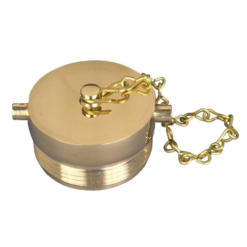 1 1/2 in. NH(NST) Dixon Brass Plug & Chain - Pin Lug (Polished)