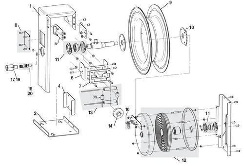 Liquidynamics 46200 Series Hose Reel Parts - Drum Bearing Kit - 11
