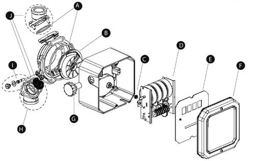 GPI Replacement Bevel Gear Kit for GPI MR 5-30 Meter - Kit# C