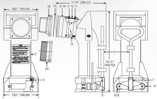 880-455 Series Product Drop Elbow - Spirol Pin - 5