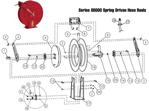 Reelcraft Series 80000 Reels - Replacement Parts - Guide Arm