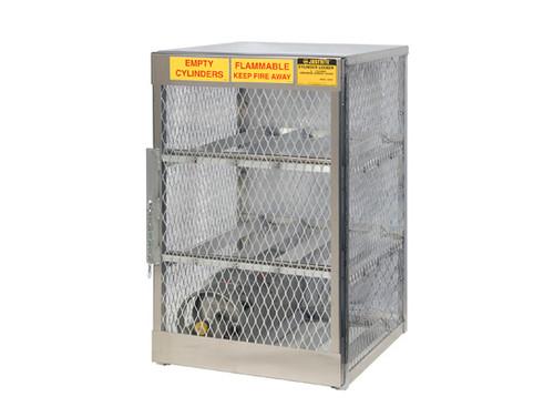Aluminum LPG Cylinder Lockers Horizontal Storage - Six 20 or 33 lb.