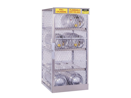Aluminum LPG Cylinder Lockers Horizontal Storage - Eight 20 or 33 lb
