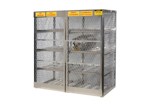Aluminum LPG Cylinder Lockers Horizontal Storage - Sixteen 20 or 33 lb