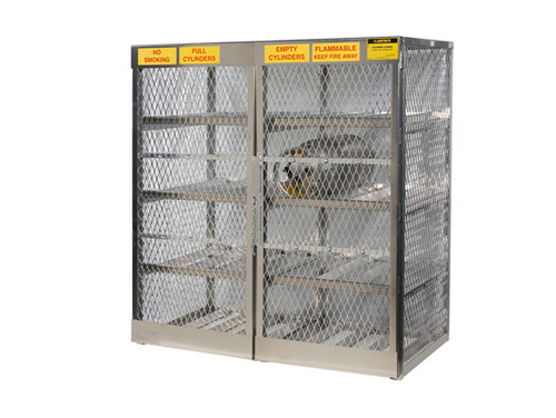 Aluminum LPG Cylinder Lockers Horizontal Storage - Sixteen 20 or 33 lb