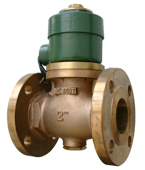 Morrison Bros. 710F Series 2 in. Flanged Anti Siphon Solenoid Valves w/ PTFE Seals