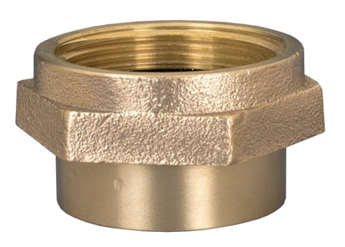 Dixon 1 1/2 in. NPT - 1 1/2 in. NH (NST) Brass Double Female Hex Nipple