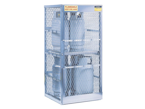 Aluminum LPG Cylinder Lockers Vertical Storage - Eight 20 or 33 lb