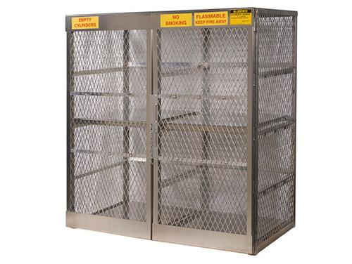 Aluminum LPG Cylinder Lockers Vertical Storage - Sixteen 20 or 33 lb