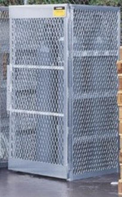Aluminum Compressed Gas Lockers Vertical Storage - 10 Cylinders