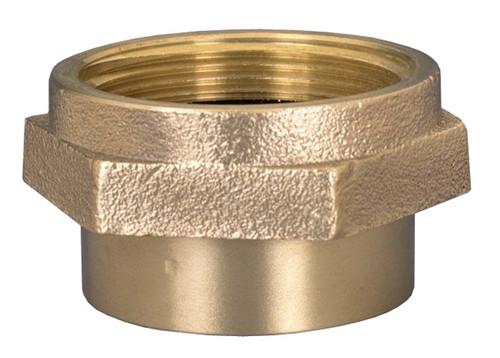 Dixon 2 1/2 in. NPT - 2 1/2 in. NH (NST) Brass Double Female Hex Nipple