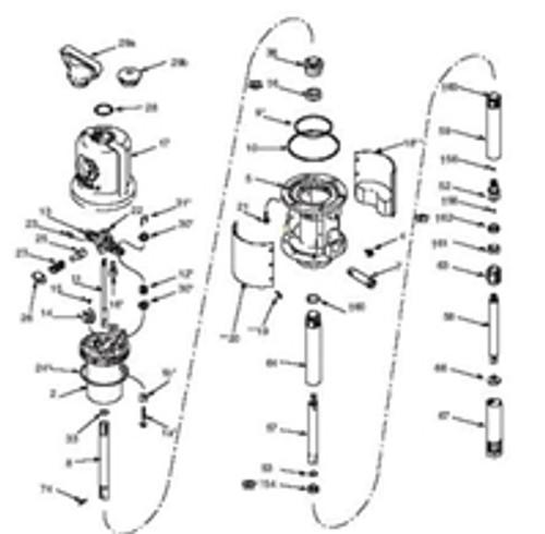 SVI Inc. Air Motor Repair Kit for Graco Fireball 300 50:1 Repair Kit