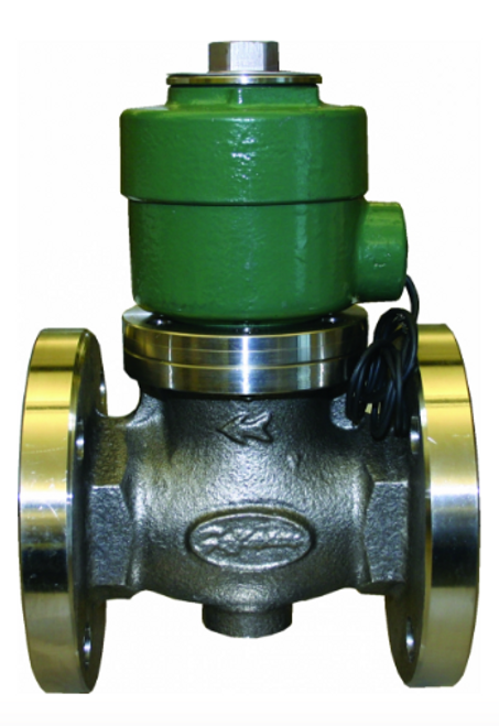 Morrison Bros. 710SS Series 2 in. Stainless Steel Anti-Siphon Solenoid Valves w/ PTFE Seal - Flanged