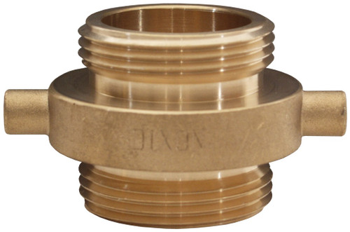Dixon 2 1/2 in. NH(NST) x 2 1/2 in. NPT Brass Pin Lug Double Male Adapters