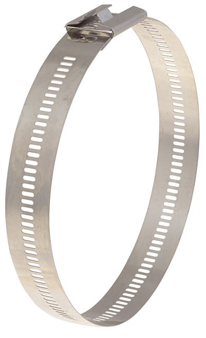 BAND-IT Multi-Lok 0.472 in. W x 5.1 in. Dia. Uncoated 316SS Cable Ties - 100/Bag