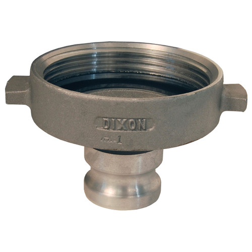 Dixon 2 in. Aluminum Cam & Groove Adapter x Railroad Tank Car Connection
