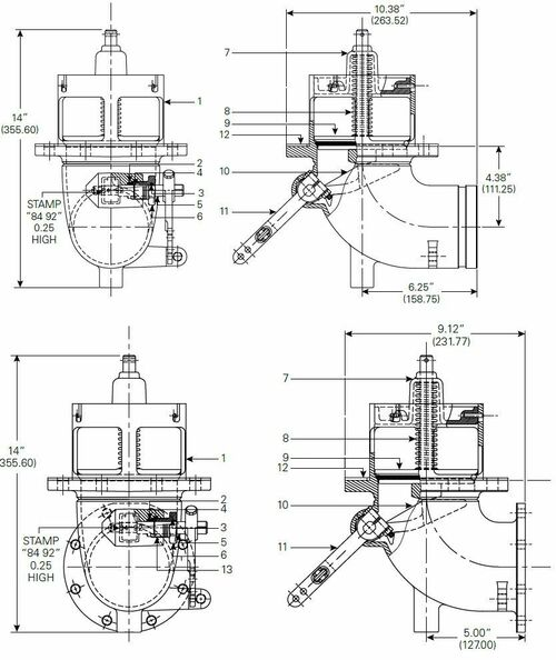 880-430 & 880-431 Emergency Valve Parts - Spirol retaining Ring