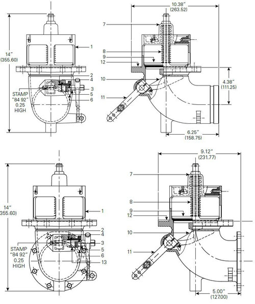 Frankling Fueling Systems 880-430 & 880-431 Emergency Valve Parts - Cam - 10