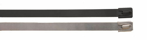 BAND-IT Ball-Lokt 0.18 in. W x 3.9 in. Dia. Uncoated 316SS Cable Ties -100/Bag