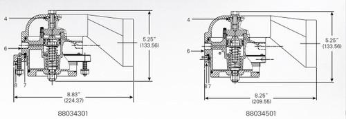 880-343-01 & 8803-45-01 Vapor Valve Parts - Mounting Assembly Flange - 8