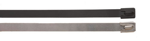 BAND-IT Ball-Lokt 0.59 in. W x 8.3 in. Dia. Uncoated 316SS Cable Ties - 50/Bag
