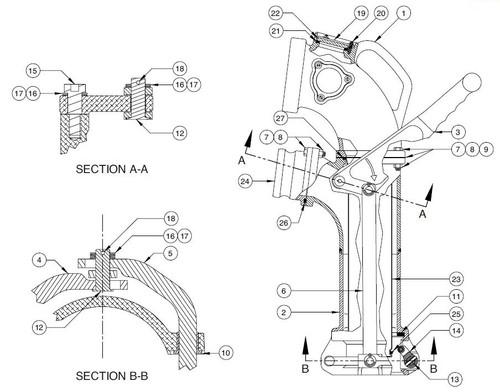 60TTCF Vapor Elbow Parts - Yoke Assembly Kit - 13, 14