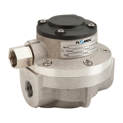 GPI Flomec OM Series 015 1/2 in. Stainless Steel Oval Gear Pulse Meter w/ PTFE/Viton Seals