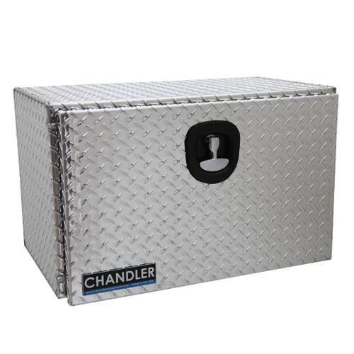 Chandler Equipment Aluminum Tread Plate Underbody Toolbox w/ Single Latch Door - 30x18x18