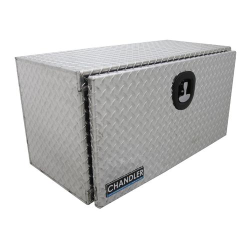 Chandler Equipment Aluminum Tread Plate Underbody Toolbox w/ Drop Down Door - 36x18x18