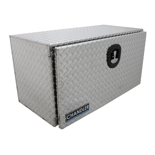 Chandler Equipment Aluminum Tread Plate Underbody Toolbox w/ Single Latch Door - 36x18x18