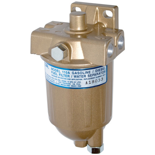Racor 110A Series Low Flow Fuel Filter/Water Separator Filter Assembly - 10 Micron - 6 Qty