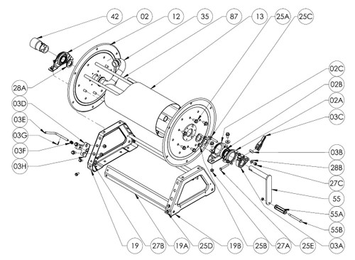 "4000 Series Hand Crank Reel Parts - 1"" Bearing Complete ( 2 Reguired ) - 02"