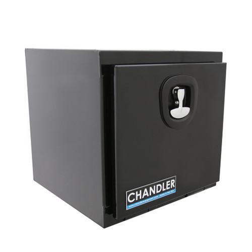 Chandler Equipment Powder Coated Carbon Steel Underbody Tool Box w/ Single Latch Door - 18x18x18