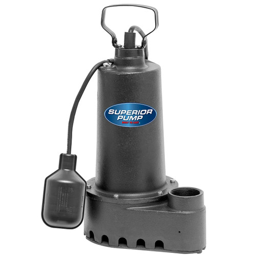 Decko 92501 1/2 HP Cast Iron Sump Pump with Tethered Float Switch - 70 GPM