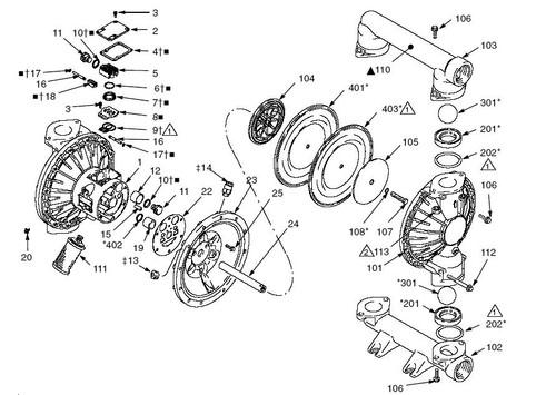 Graco Husky 2150 Diaphragm Pump Air Motor Kit