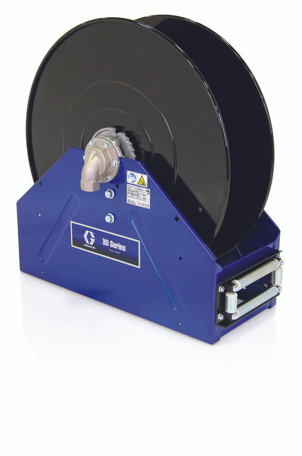 Graco 1 in. x 50 ft. Blue XD 40 Air & Water Heavy Duty Spring Driven Hose Reel - Reel Only