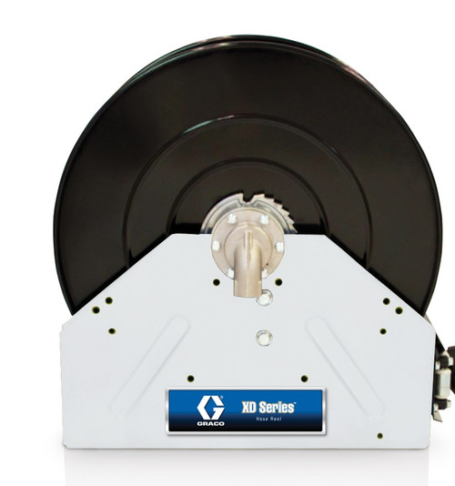 Graco XD40 1 in. x 50 ft. White Air & Water Heavy Duty Spring Driven Hose Reel - Reel Only