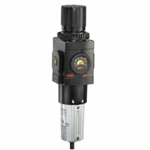 "ARO 2000 Series 3/4 in. Filter-Regulator ""Piggyback"" w/ Poly Bowl, Manual Drain & Gauge"