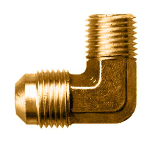 """Gas-Flo Brass SAE 45° Flare 90° Elbow - Tube to Male Pipe Fitting - 1/2"""" - 1/2"""" - 750"""