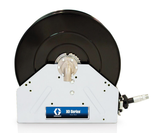 Graco 1 in. x 50 ft. White XD 40 Air & Water Heavy Duty Spring Driven Hose Reel - Reel & Hose
