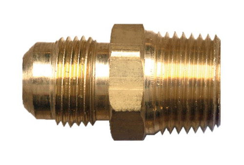 """Gas-Flo Brass S.A.E. 45° Flare Connector - Tube to Male Pipe Thread Fitting - 3/8"""" - 3/8"""" - 1,000"""
